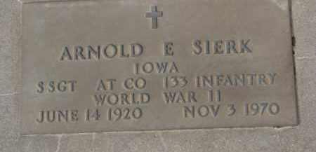 SIERK, ARNOLD (WW II MARKER) - Dixon County, Nebraska | ARNOLD (WW II MARKER) SIERK - Nebraska Gravestone Photos