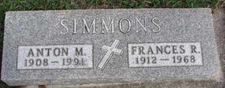 SIMMONS, FRANCES R. - Dixon County, Nebraska | FRANCES R. SIMMONS - Nebraska Gravestone Photos