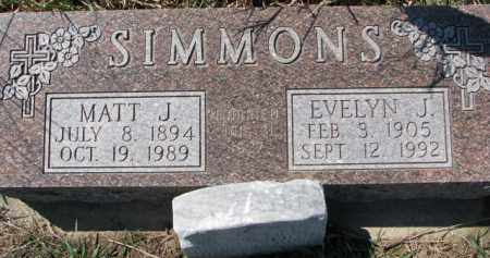 SIMMONS, MATT J. - Dixon County, Nebraska | MATT J. SIMMONS - Nebraska Gravestone Photos