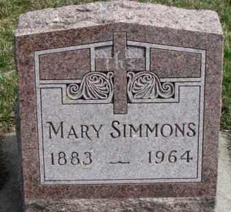 SIMMONS, MARY - Dixon County, Nebraska | MARY SIMMONS - Nebraska Gravestone Photos