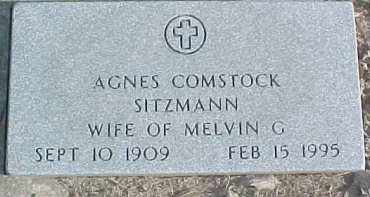 COMSTOCK SITZMANN, AGNES - Dixon County, Nebraska | AGNES COMSTOCK SITZMANN - Nebraska Gravestone Photos