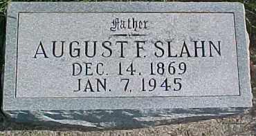 SLAHN, AUGUST F. - Dixon County, Nebraska | AUGUST F. SLAHN - Nebraska Gravestone Photos