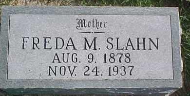 SLAHN, FREDA M. - Dixon County, Nebraska   FREDA M. SLAHN - Nebraska Gravestone Photos