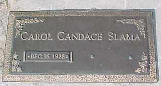 SLAMA, CAROL CANDACE - Dixon County, Nebraska | CAROL CANDACE SLAMA - Nebraska Gravestone Photos