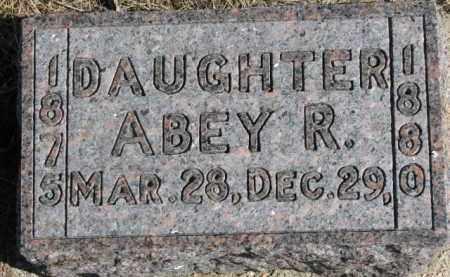 SMITH, ABEY R. - Dixon County, Nebraska | ABEY R. SMITH - Nebraska Gravestone Photos