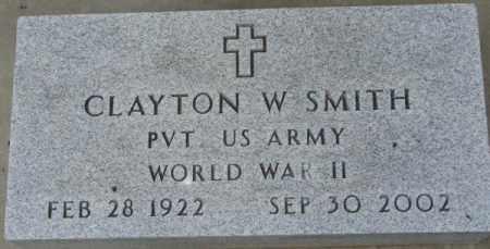 SMITH, CLAYTON W. (WW II MARKER) - Dixon County, Nebraska   CLAYTON W. (WW II MARKER) SMITH - Nebraska Gravestone Photos