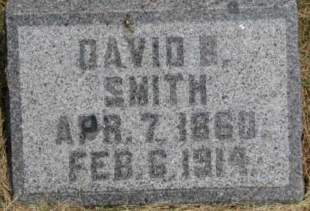 SMITH, DAVID B. - Dixon County, Nebraska | DAVID B. SMITH - Nebraska Gravestone Photos