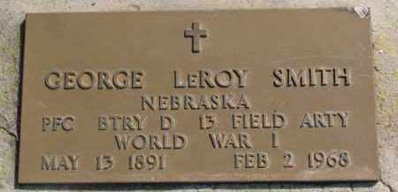 SMITH, GEORGE LEROY (WW I MARKER) - Dixon County, Nebraska | GEORGE LEROY (WW I MARKER) SMITH - Nebraska Gravestone Photos