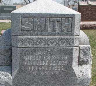 SMITH, JANE ELIZABETH - Dixon County, Nebraska | JANE ELIZABETH SMITH - Nebraska Gravestone Photos
