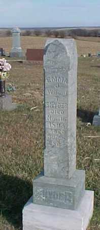 SNYDER, EMMA J. - Dixon County, Nebraska   EMMA J. SNYDER - Nebraska Gravestone Photos
