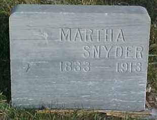 SNYDER, MARTHA - Dixon County, Nebraska | MARTHA SNYDER - Nebraska Gravestone Photos
