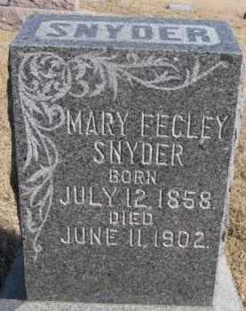 SNYDER, MARY - Dixon County, Nebraska   MARY SNYDER - Nebraska Gravestone Photos