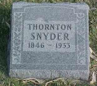 SNYDER, THORNTON - Dixon County, Nebraska   THORNTON SNYDER - Nebraska Gravestone Photos