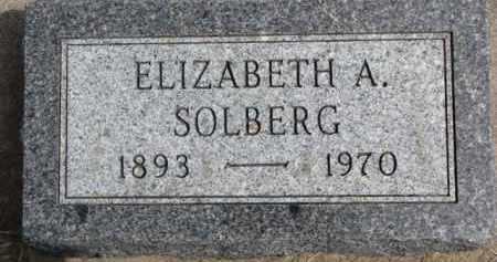 SOLBERG, ELIZABETH A. - Dixon County, Nebraska | ELIZABETH A. SOLBERG - Nebraska Gravestone Photos