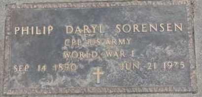 SORENSEN, PHILIP DARYL (WW I MARKER) - Dixon County, Nebraska | PHILIP DARYL (WW I MARKER) SORENSEN - Nebraska Gravestone Photos