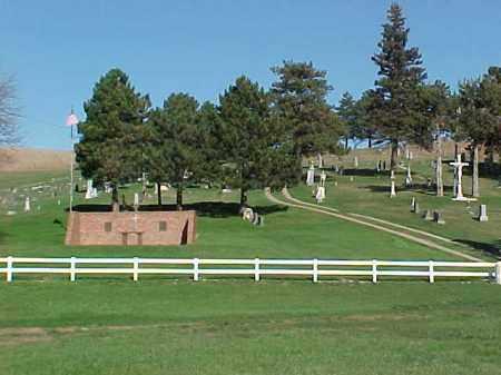 *SOUTHCREEK ST. PAUL CATHOLIC, OVERVIEW - Dixon County, Nebraska | OVERVIEW *SOUTHCREEK ST. PAUL CATHOLIC - Nebraska Gravestone Photos