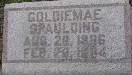 SPAULDING, GOLDIEMAE - Dixon County, Nebraska | GOLDIEMAE SPAULDING - Nebraska Gravestone Photos