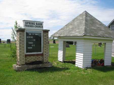 **SPRINGBANK FRIENDS, ENTRY SIGN - Dixon County, Nebraska | ENTRY SIGN **SPRINGBANK FRIENDS - Nebraska Gravestone Photos