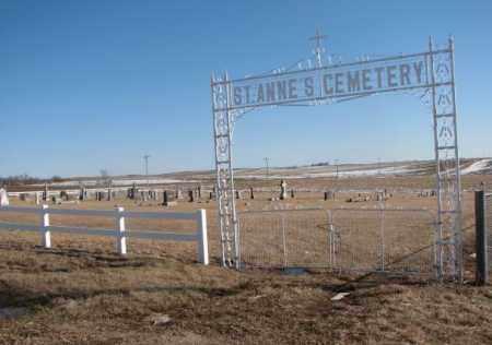 *ST. ANNES, OVERVIEW - Dixon County, Nebraska | OVERVIEW *ST. ANNES - Nebraska Gravestone Photos