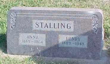 STALLING, ANNA - Dixon County, Nebraska   ANNA STALLING - Nebraska Gravestone Photos