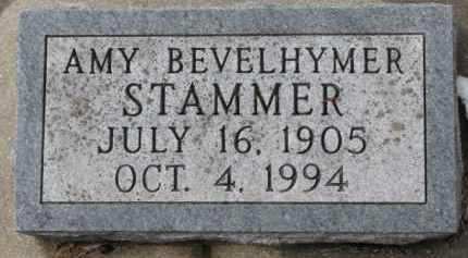 BEVELHYMER STAMMER, AMY - Dixon County, Nebraska   AMY BEVELHYMER STAMMER - Nebraska Gravestone Photos
