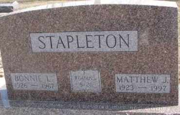 LISLE STAPLETON, BONNIE L. - Dixon County, Nebraska | BONNIE L. LISLE STAPLETON - Nebraska Gravestone Photos