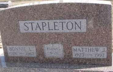 STAPLETON, MATTHEW J. - Dixon County, Nebraska | MATTHEW J. STAPLETON - Nebraska Gravestone Photos