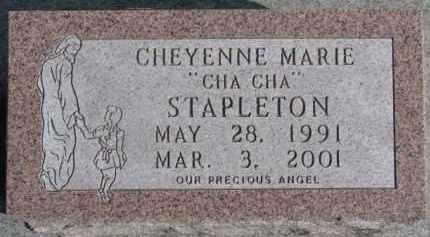 STAPLETON, CHEYENNE MARIE - Dixon County, Nebraska | CHEYENNE MARIE STAPLETON - Nebraska Gravestone Photos