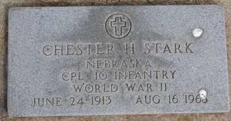 STARK, CHESTER H. (WW II MARKER) - Dixon County, Nebraska | CHESTER H. (WW II MARKER) STARK - Nebraska Gravestone Photos