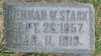 STARK, HERMAN W. - Dixon County, Nebraska | HERMAN W. STARK - Nebraska Gravestone Photos