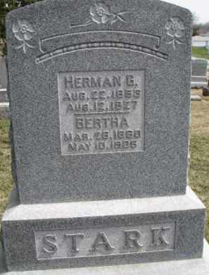 STARK, HERMAN G. - Dixon County, Nebraska | HERMAN G. STARK - Nebraska Gravestone Photos