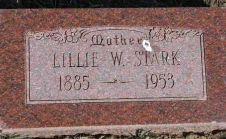 STARK, LILLIE W. - Dixon County, Nebraska | LILLIE W. STARK - Nebraska Gravestone Photos