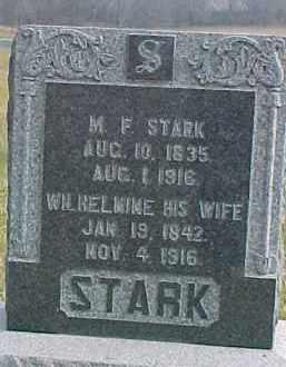 STARK, WILHELMINE - Dixon County, Nebraska | WILHELMINE STARK - Nebraska Gravestone Photos