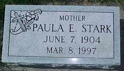 STARK, PAULA E. - Dixon County, Nebraska   PAULA E. STARK - Nebraska Gravestone Photos