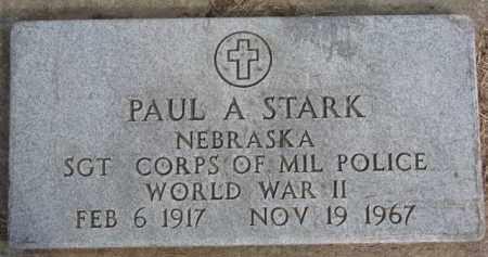 STARK, PAUL A. (WW II MARKER) - Dixon County, Nebraska | PAUL A. (WW II MARKER) STARK - Nebraska Gravestone Photos