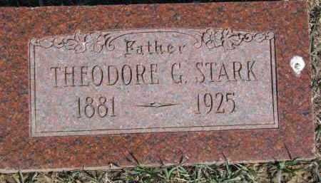STARK, THEODORE G. - Dixon County, Nebraska | THEODORE G. STARK - Nebraska Gravestone Photos