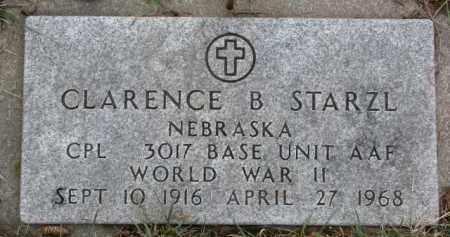 STARZL, CLARENCE B. (WW II MARKER) - Dixon County, Nebraska   CLARENCE B. (WW II MARKER) STARZL - Nebraska Gravestone Photos