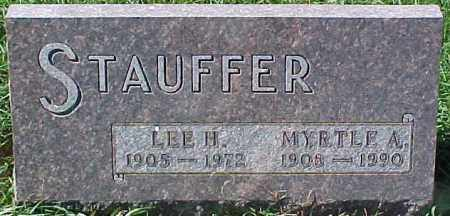 STAUFFER, MYRTLE A. - Dixon County, Nebraska   MYRTLE A. STAUFFER - Nebraska Gravestone Photos