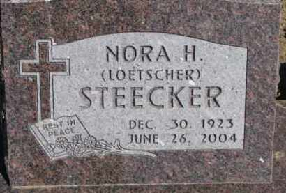STEECKER, NORA H. - Dixon County, Nebraska | NORA H. STEECKER - Nebraska Gravestone Photos