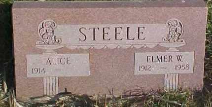 STEELE, ALICE - Dixon County, Nebraska | ALICE STEELE - Nebraska Gravestone Photos