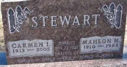 STEWART, CARMEN I. - Dixon County, Nebraska   CARMEN I. STEWART - Nebraska Gravestone Photos