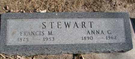STEWART, FRANCIS M. - Dixon County, Nebraska | FRANCIS M. STEWART - Nebraska Gravestone Photos