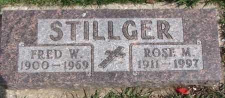 STILLGER, FRED W. - Dixon County, Nebraska   FRED W. STILLGER - Nebraska Gravestone Photos