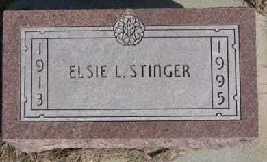 STINGER, ELSIE L. - Dixon County, Nebraska   ELSIE L. STINGER - Nebraska Gravestone Photos