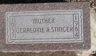 STINGER, GERALDINE R. - Dixon County, Nebraska   GERALDINE R. STINGER - Nebraska Gravestone Photos