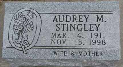 STINGLEY, AUDREY M. - Dixon County, Nebraska | AUDREY M. STINGLEY - Nebraska Gravestone Photos