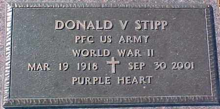 STIPP, DONALD V.  (WWII MARKER) - Dixon County, Nebraska | DONALD V.  (WWII MARKER) STIPP - Nebraska Gravestone Photos