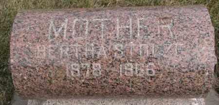 STOLZE, BERTHA - Dixon County, Nebraska | BERTHA STOLZE - Nebraska Gravestone Photos