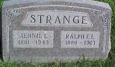 STRANGE, JENNIE L. - Dixon County, Nebraska | JENNIE L. STRANGE - Nebraska Gravestone Photos