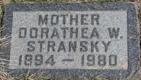 STRANSKY, DORATHEA W. - Dixon County, Nebraska | DORATHEA W. STRANSKY - Nebraska Gravestone Photos